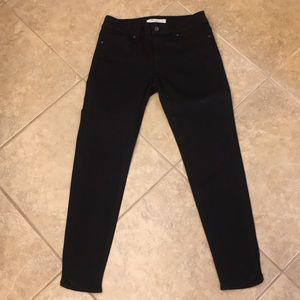 Navi Black Stretch Ankle Jean